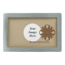 Brown Clover Ribbon Template Rectangular Belt Buckle