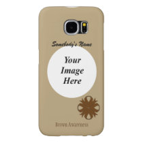 Brown Clover Ribbon Template Samsung Galaxy S6 Case