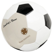 Brown Clover Ribbon Template Soccer Ball