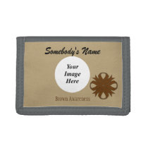 Brown Clover Ribbon Template Trifold Wallet