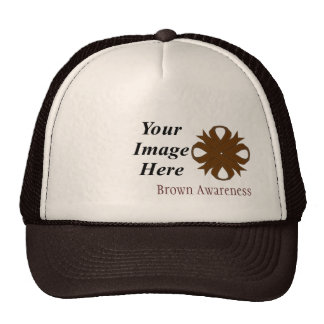 Brown Clover Ribbon Template Trucker Hat