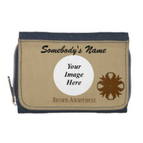 Brown Clover Ribbon Template Wallet