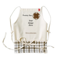 Brown Clover Ribbon Template Zazzle HEART Apron