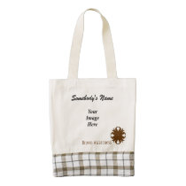Brown Clover Ribbon Template Zazzle HEART Tote Bag