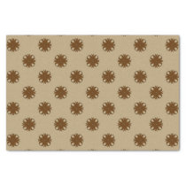 Brown Clover Ribbon Tissue Paper