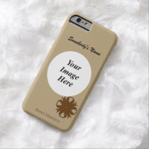 Brown Clover Ribbon Tmpl by Kenneth Yoncich Barely There iPhone 6 Case