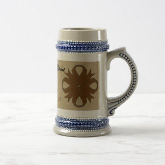 Brown Clover Ribbon Tmpl by Kenneth Yoncich Beer Stein