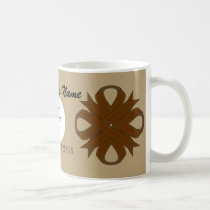 Brown Clover Ribbon Tmpl by Kenneth Yoncich Coffee Mug