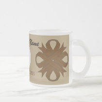 Brown Clover Ribbon Tmpl by Kenneth Yoncich Frosted Glass Coffee Mug