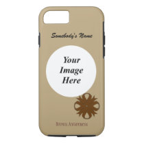 Brown Clover Ribbon Tmpl by Kenneth Yoncich iPhone 8/7 Case