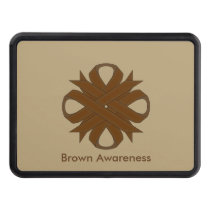 Brown Clover Ribbon Trailer Hitch Cover
