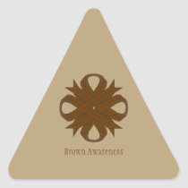 Brown Clover Ribbon Triangle Sticker