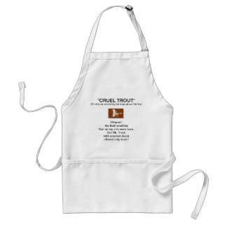 """Brown Coachman Dry Fly-Cruel Trout""  Apron"