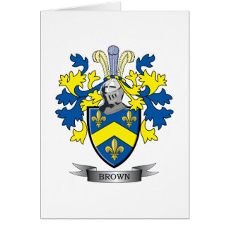 Brown Coat of Arms Card