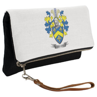 Brown Coat of Arms Clutch
