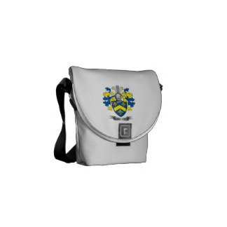 Brown Coat of Arms Courier Bag