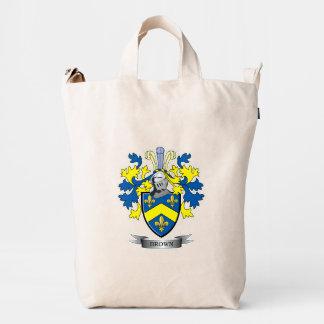 Brown Coat of Arms Duck Bag