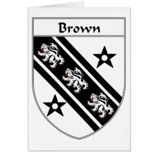 Brown Coat of Arms/Family Crest Card