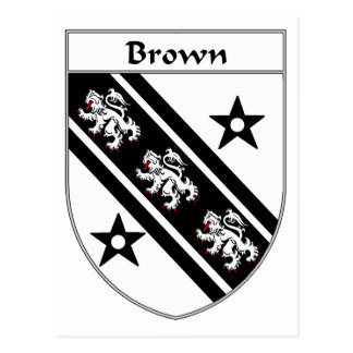 Brown Coat of Arms/Family Crest Postcard