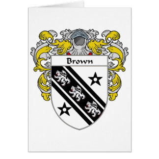 Brown Coat of Arms (Mantled) Card