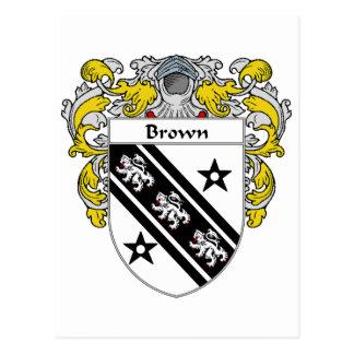 Brown Coat of Arms (Mantled) Postcard