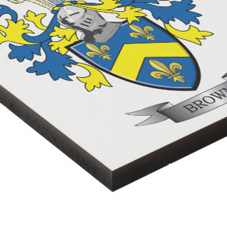 Brown Coat of Arms Panel Wall Art