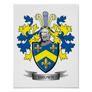 Brown Coat of Arms Poster