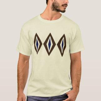 Brown & Cobalt Retro Diamond Trio T-Shirt