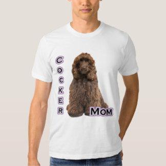 Brown Cocker Spaniel Mom 4 T-shirt