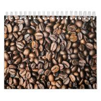 Brown Coffee Bean Texture Background Calendar