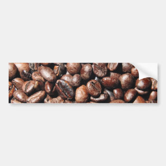 BROWN COFFEE BEANS PHOTOGRAPHY BACKGROUNDS FOODS BUMPER STICKER