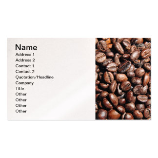 BROWN COFFEE BEANS PHOTOGRAPHY BACKGROUNDS FOODS BUSINESS CARD