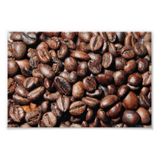 BROWN COFFEE BEANS PHOTOGRAPHY BACKGROUNDS FOODS POSTER