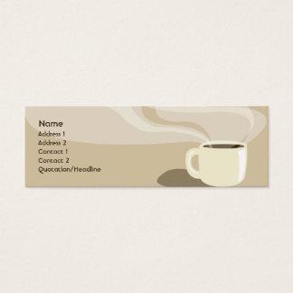 Brown Coffee Cup - Skinny Mini Business Card