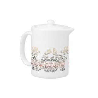 Brown Coffee typography coffeepot Teapot