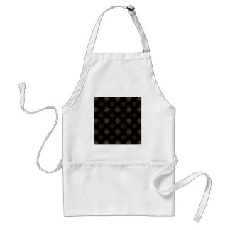 Brown Cogs. Fractal Circles Pattern. Adult Apron