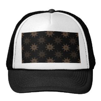 Brown Cogs. Fractal Circles Pattern. Trucker Hat