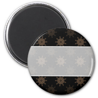 Brown Cogs. Fractal Circles Pattern. Magnets