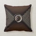 Brown Coin Scale Designer Bag Throw Pillow