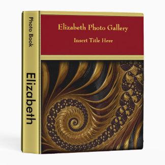 Brown color abstract swirl photo album mini binder