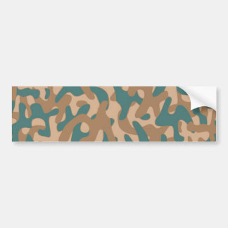 Brown color Camouflage Pattern Bumper Sticker
