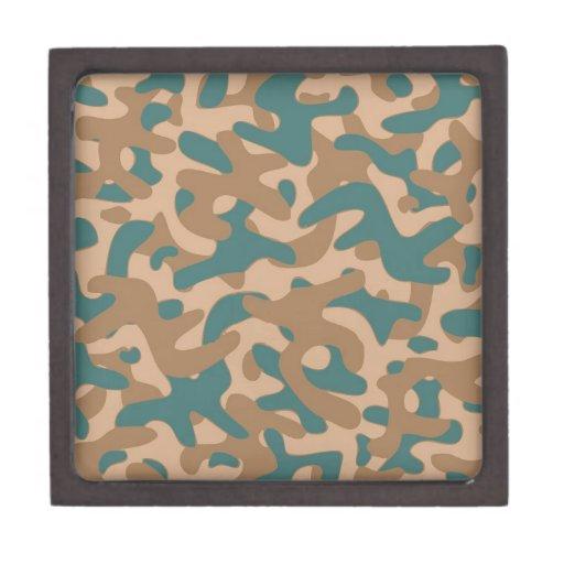 Brown color Camouflage Pattern Premium Keepsake Box