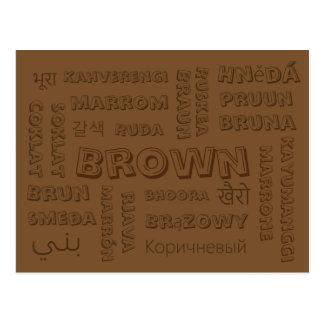 Brown - Color Languages on Postcards