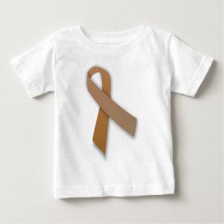 Brown Colorectal Cancer Awareness Ribbon Baby T-Shirt