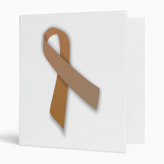 Brown Colorectal Cancer Awareness Ribbon Binder