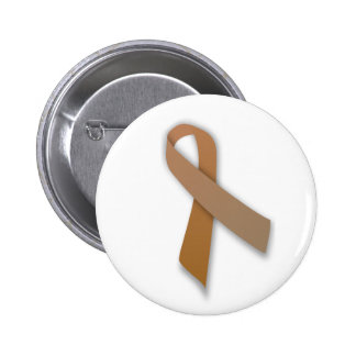Brown Colorectal Cancer Awareness Ribbon Buttons