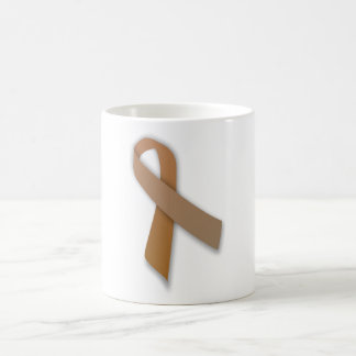 Brown Colorectal Cancer Awareness Ribbon Coffee Mug