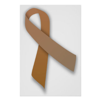 Brown Colorectal Cancer Awareness Ribbon Posters