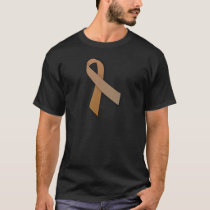 Brown Colorectal Cancer Awareness Ribbon T-Shirt
