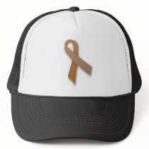 Brown Colorectal Cancer Awareness Ribbon Trucker Hat